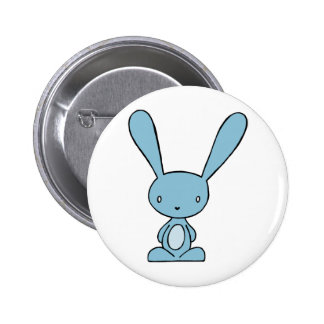 Bunny Blue Pinback Button