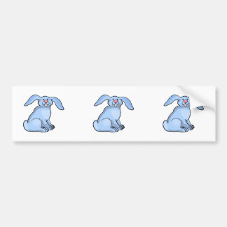 Bunny Blue Car Bumper Sticker