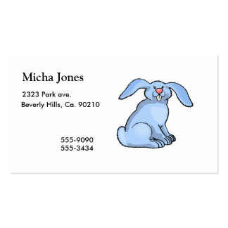 Bunny Blue Double-Sided Standard Business Cards (Pack Of 100)
