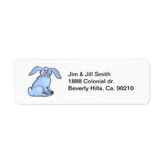 Bunny Blue Return Address Label