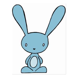 Bunny Blue Postcard