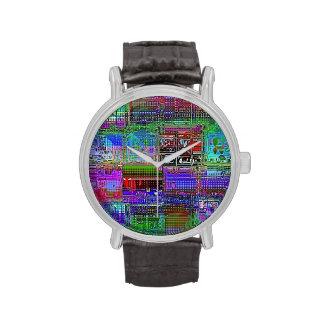 Bunny Blue Squares Wrist Watch