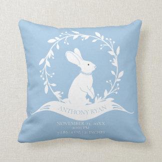Bunny Boys  Baby Birth Stats Pillow