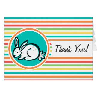 Bunny Bright Rainbow Stripes Card