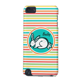 Bunny Bright Rainbow Stripes iPod Touch (5th Generation) Covers