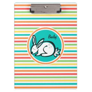 Bunny Bright Rainbow Stripes Clipboards
