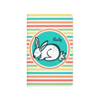 Bunny Bright Rainbow Stripes Journals