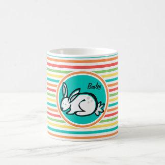 Bunny Bright Rainbow Stripes Mug
