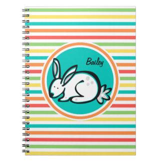 Bunny Bright Rainbow Stripes Note Book