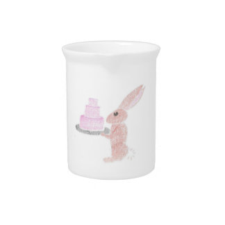 Bunny Brings Out The Cake Pitcher