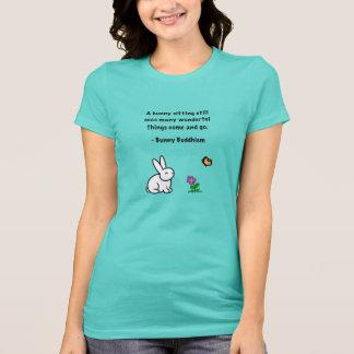 """Bunny Buddhism """"Bunny Sitting Still"""" T-Shirt"""