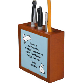 "Bunny Buddhism ""No Greater Joy"" Desk Organizer"