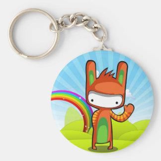 Bunny Bunny Basic Round Button Key Ring