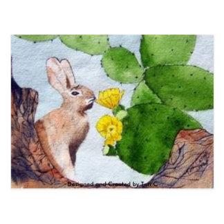 Bunny Cactus Postcard