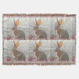 Bunny Cartoon Custom Throw Blanket