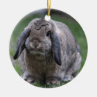 bunny ceramic ornament