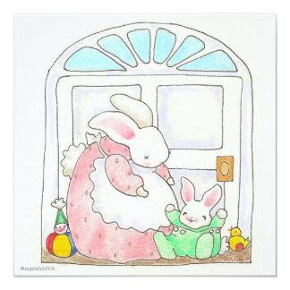 bunny change of address card 13 cm x 13 cm square invitation card