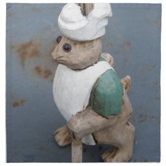Bunny chef napkin