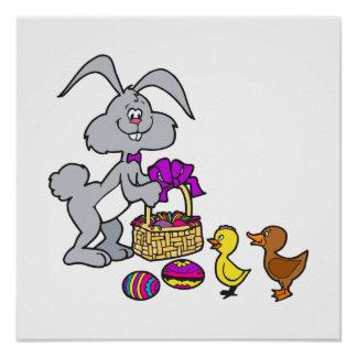 Bunny Chicks & Eggs Print