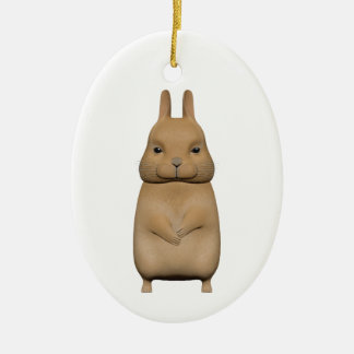 Bunny cute and lovely ceramic ornament