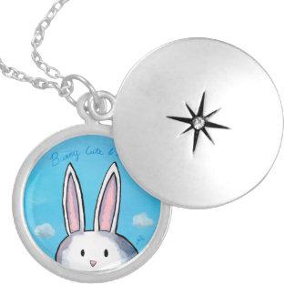 Bunny Cute & Shy Locket - Blue