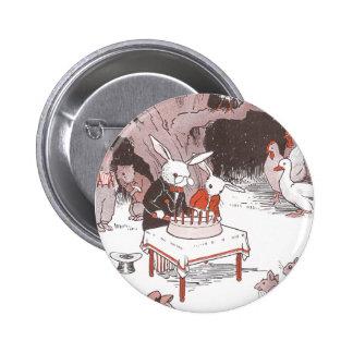 Bunny Cuts Birthday Cake 6 Cm Round Badge