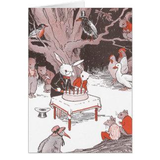 Bunny Cuts Birthday Cake Card
