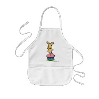 Bunny Dancing on a Cupcake Kids Apron