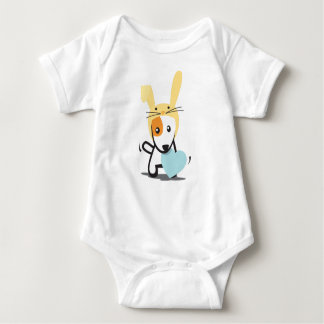 bunny dog for boy baby bodysuit