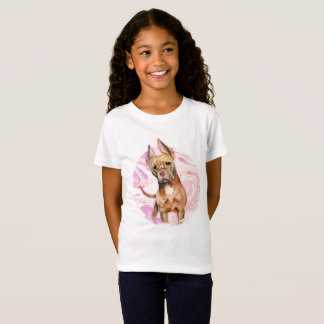 """""""Bunny Ears"""" 3 Pit Bull Dog Watercolor Painting T-Shirt"""