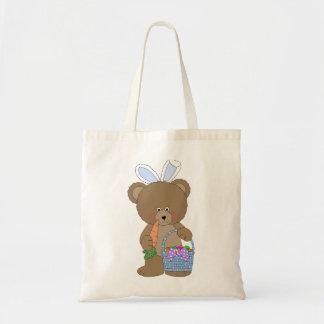 Bunny Ears Bear Easter Tote Budget Tote Bag