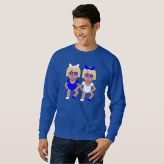 bunny ears hanukkah mens sweatshirt