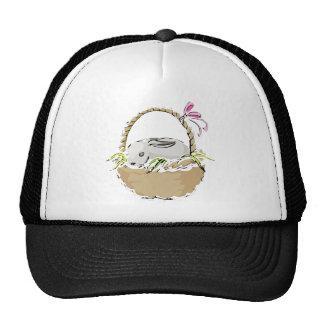 Bunny Easter Basket Trucker Hat