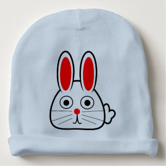 Bunny Egg Basket Easter for Happy First Easter Baby Beanie