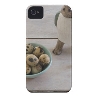 Bunny & eggs in a bowl iPhone 4 cover