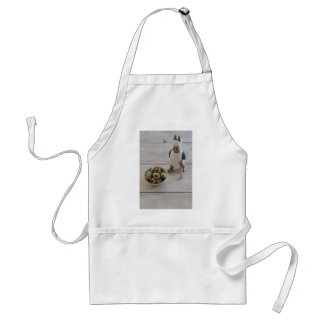 Bunny & eggs in a bowl standard apron