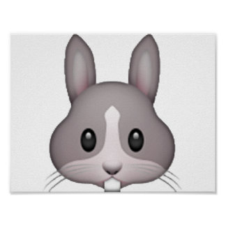 Bunny - Emoji Poster