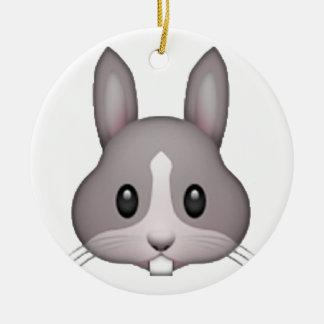 Bunny - Emoji Round Ceramic Decoration