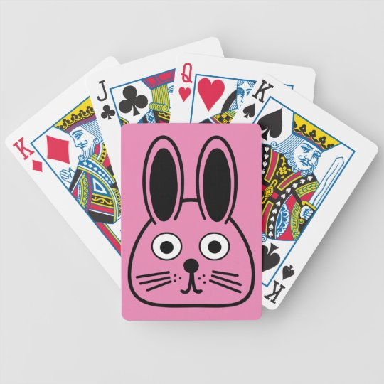 bunny face bicycle playing cards