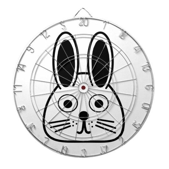 bunny face dartboard