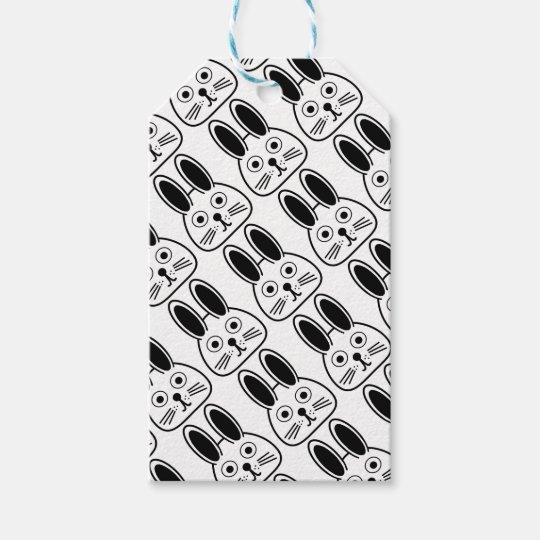 bunny face gift tags