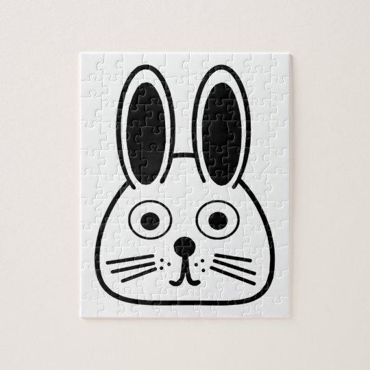bunny face jigsaw puzzle