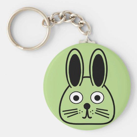 bunny face key ring