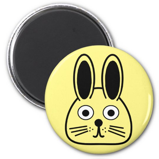bunny face magnet