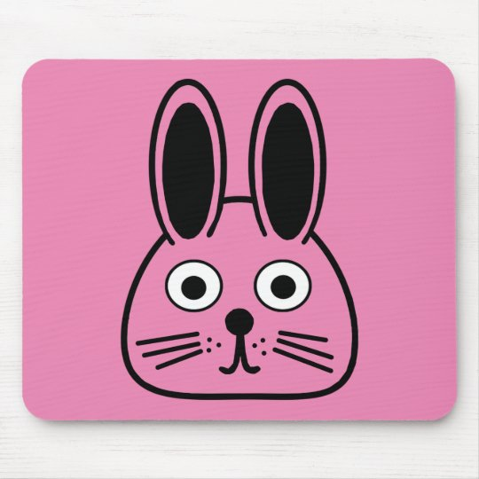 bunny face mouse pad
