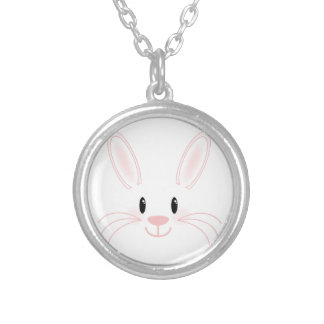 Bunny Face Round Pendant Necklace