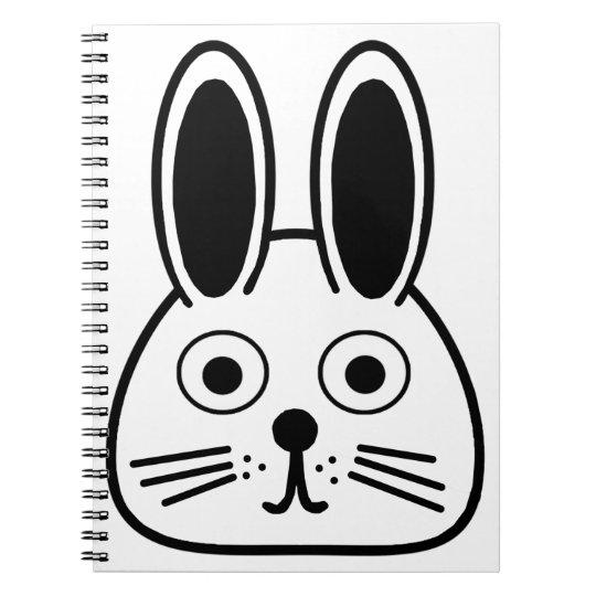 bunny face notebook