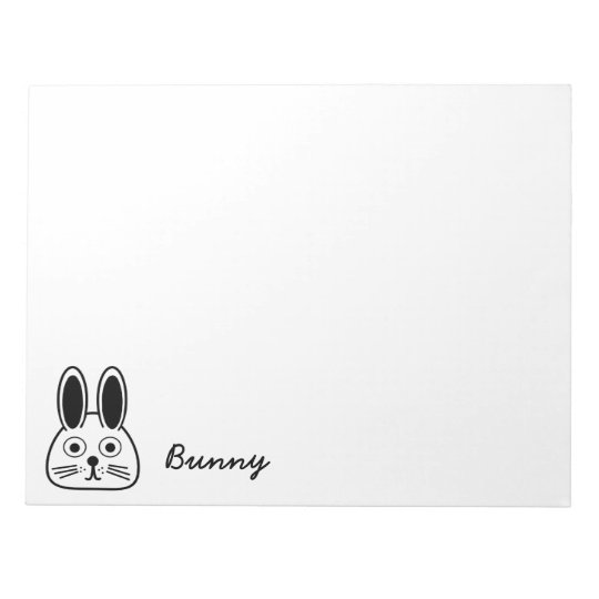 bunny face notepad