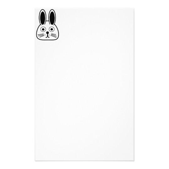 bunny face stationery