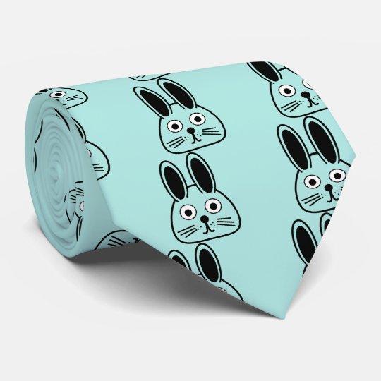 bunny face tie